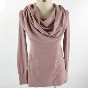 Ruby Moon - Pink Long Sleeve Cowl Neck Sweater